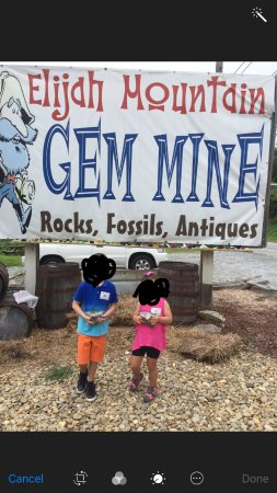 Elijah Mountain Gem Mine : The kids were so happy with all the treasures they received PLUS the sticker
