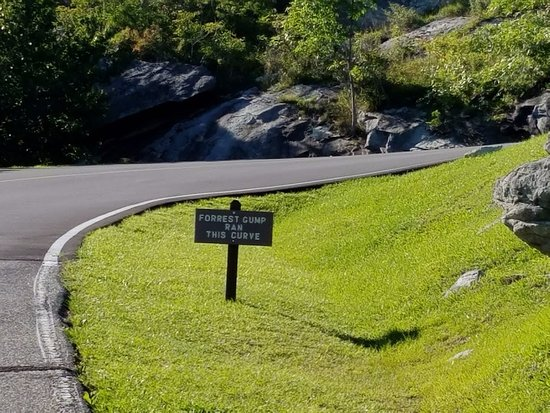 Grandfather Mountain : Forrest Gump ran this curve in movie