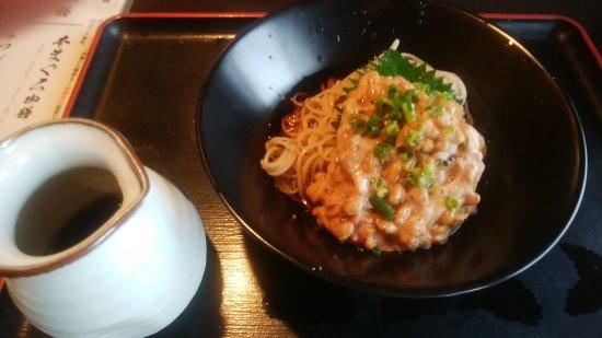 Ebina, Japón: 梅納豆そば。