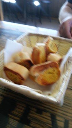 Campbell Town, Australia: Garlic bread.