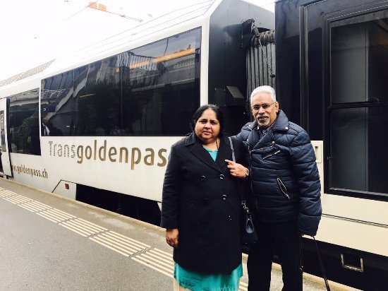GoldenPass Line : The golden pass line from Montbovon to Montreux in Switzerland. Dr. Javed Rasheed