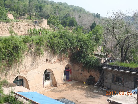 Lingshi County, الصين: 王家大院旁窯洞