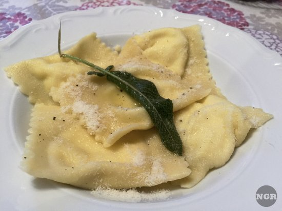 San Rocco a Pilli, Italien: Ravioli at dinner.