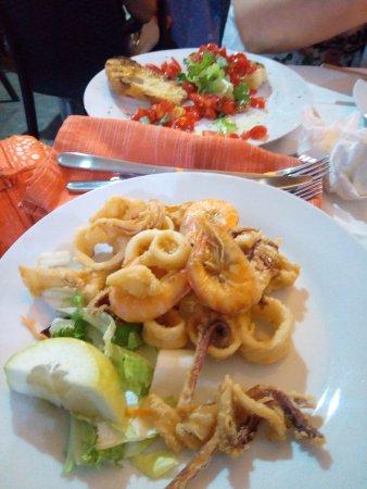 La Locanda del Postino: frittura di calamari