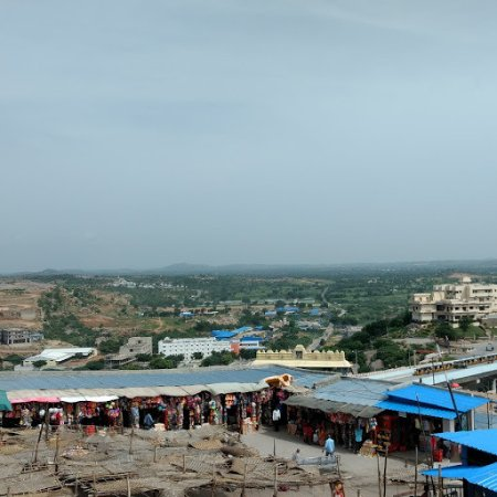 Yadagiri Gutta Temple: A view of countryside from the Temple area