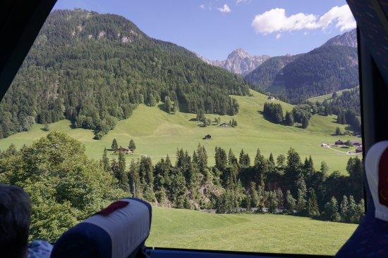 GoldenPass Line : Views from side window!