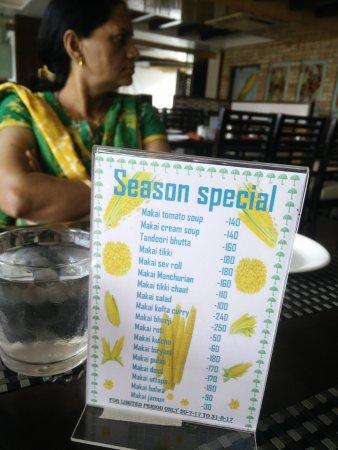 Spacious restaurant  serving  multi cusine