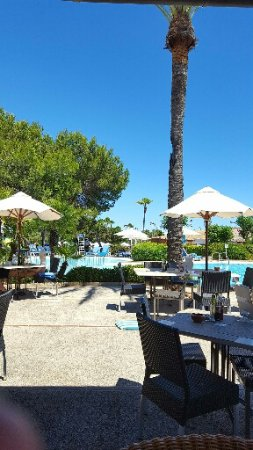 Blau Colonia Sant Jordi Resort & Spa : View from lunchtime restaurant