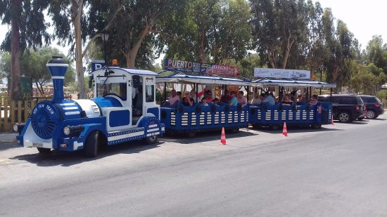 Little Train Tours: Elounda_plaka_spinalonga_little train tous_august_summer in crete