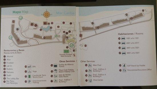 Hotel Map - Picture of Akumal Bay Beach & Wellness Resort, Akumal ...
