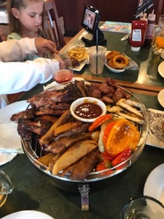 Smokey Bones Bar & Fire Grill: This was the sharing combo...