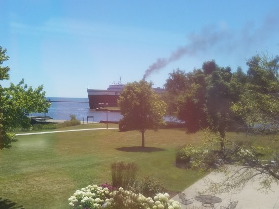 Manitowoc, WI: View of Ferry Arrival to the area
