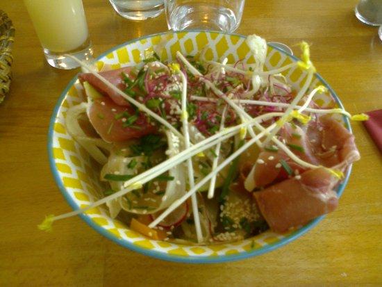 O'Bidul: salade jambon cru et légumes croquants