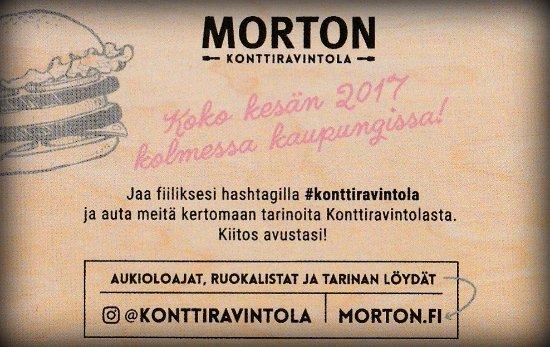 Varkaus, Finland: Konttiravintola Morton