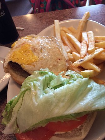 Bath, NY: Burger with Egg