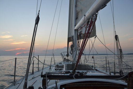 Poet's Lounge Sailing Charter -  Day Tours: boating at sunset