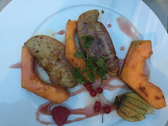 Dreux, Fransa: foie gras poelé