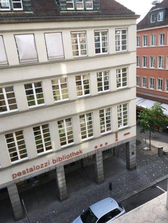 โรงแรมอเล็กซานเดอร์: Ausblick vom Gästehaus