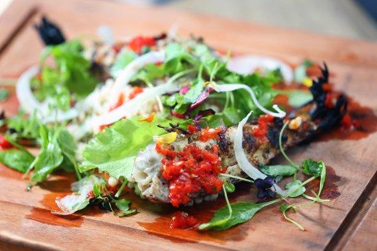 Cap Estate, St. Lucia: Grilled Prawn Salad