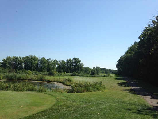 Whittaker Woods Golf Club : short par 3 over water