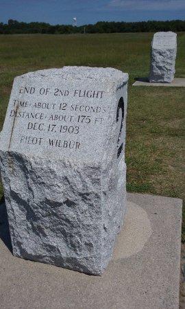 Kill Devil Hills, NC: Second flight 12 seconds, 175 feet by Wilbur