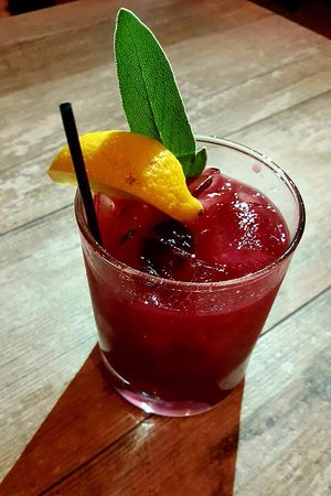 Arugula bistro: blackberry sage cocktail