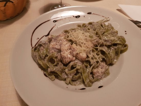 Plomin, Croatia: pasta with frogfish and poppy sauce