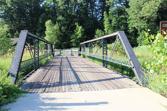 Emmett, MI: Another example of the well paved trail for anyone with disabilities.