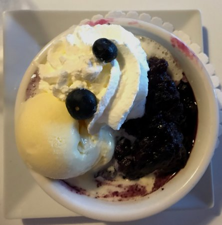 Chester Basin, Canada: Blueberry Grunt...leave room for this dessert! Oh ya, and don't share you will regret it if you