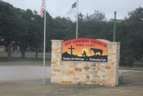 Austin Steam Train: First Cowboy church