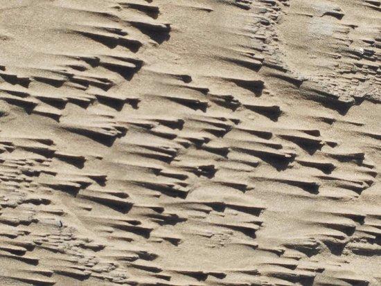 Essaouira Beach: sand graphics