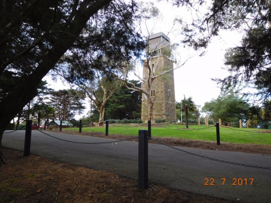 Eltham, Australia: Lookout Tower and carpark.