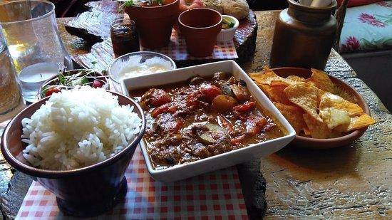 Corsham, UK: Chunky beef chilli