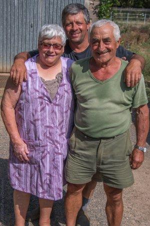 Prayssac, فرنسا: Jacq, Yvette en zoon Allain. De eigenaars van het Domaine
