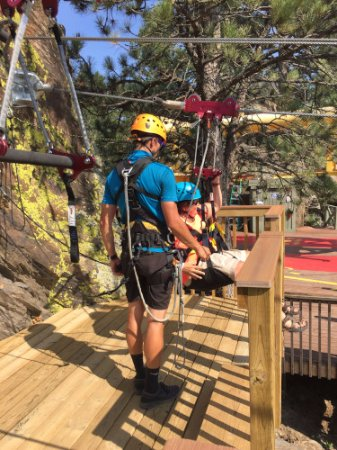 Rushmore Tramway Adventures : This is one of 5 ziplines in the Zip Line Tour.