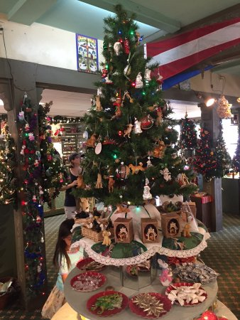 Solvang, CA: Christmas Tree with Ornaments