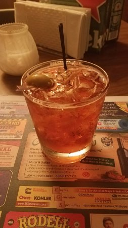 Sun Prairie, WI : Old Fashioned with brandy and seltzer