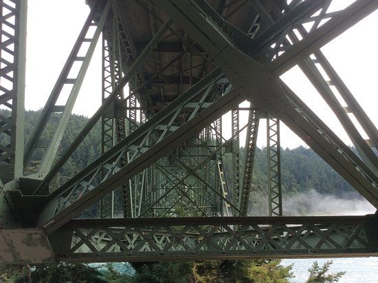 Oak Harbor, Waszyngton: Under Deception Pass Bridge