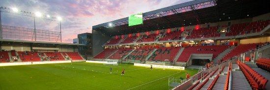 Trnava, Slovensko: inside stadium