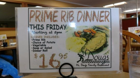 Yelm, WA: Prime Rib Dinner Special