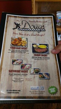 Yelm, WA: Doug's Menu