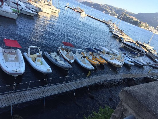 Canneto di Lipari, Italy: Some of the fleet at Nautic Centre Lipari