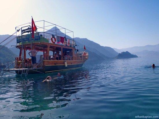 Adrasan, Turki: Teknemizin dış görünüşü