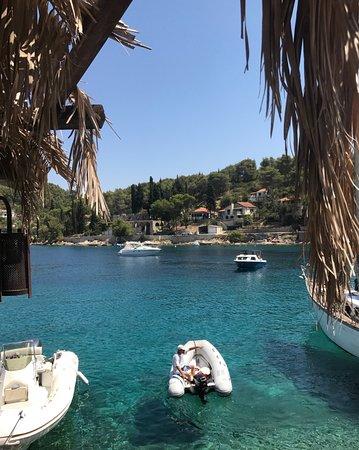 Solta Island, Croatia: vista a partir da mesa do restaurante