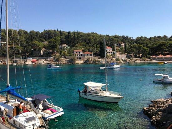 Solta Island, Croatia: vista do restaurante