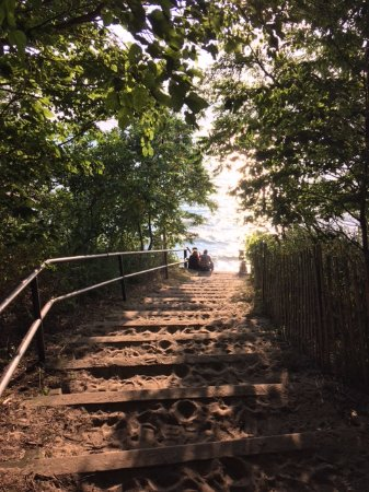 Fennville, MI: The steps leading down to Pier Cove.
