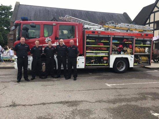Market Drayton, UK: Local fire service
