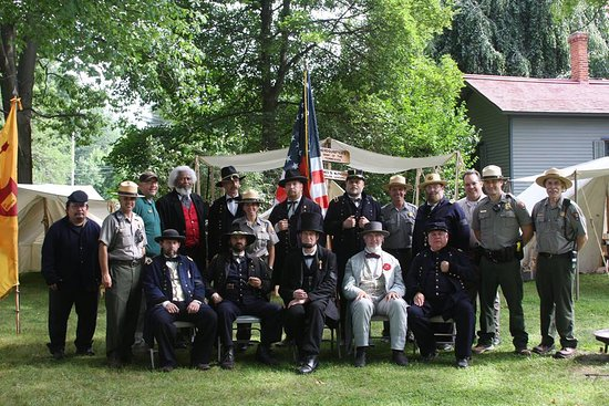 Mentor, OH: Some of the re enactors that visit Garfield Civil War weekend.
