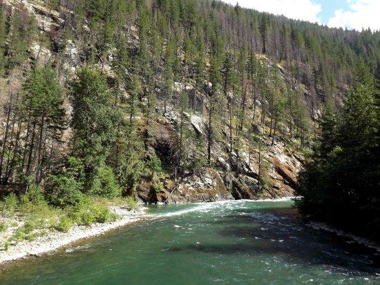 North Cascades National Park, WA: river below suspension bridge