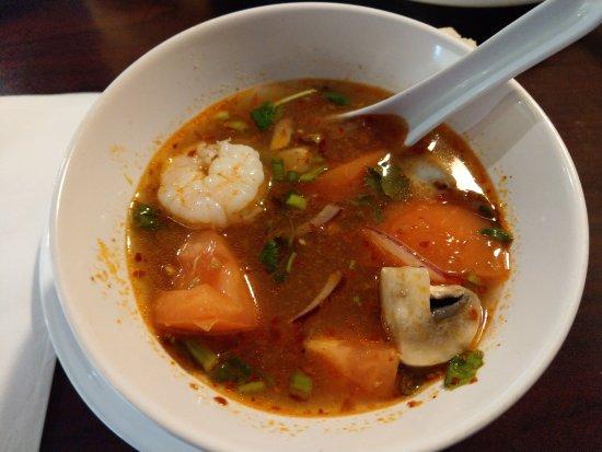 North Kansas City, MO: Tom Yum (with sea food) and yum nua salad.  Delicious!